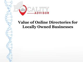 Value of online directories for locally owned businesses