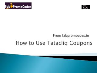 How to use Tatacliq coupons
