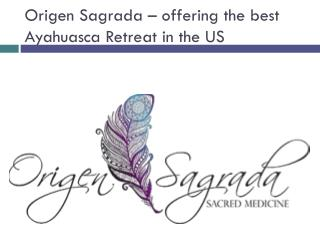 Origen Sagrada – offering the best Ayahuasca Retreat in the US