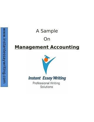 Sample Report on Management accounting by Experts