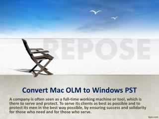 conversion of OLM files to PST