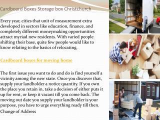 cardboard boxes storage box Christchurch