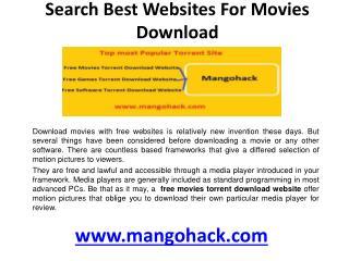 Free movies torrent download website