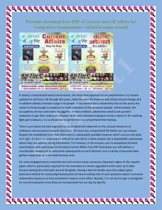 Free Current Affairs PDF Downloads
