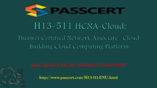 H13-511 HCNA-Cloud-BCCP exam practice test