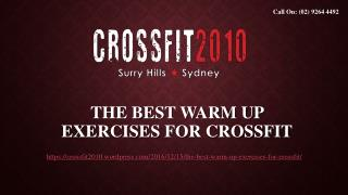 The Best Warm Up Exercises For CrossFit