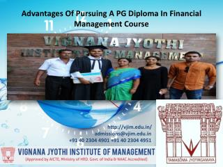 Advantages Of Pursuing A PG Diploma In Financial Management Course
