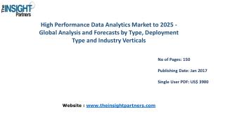 High Performance Data Analytics Market Shares, Strategies, and Forecasts, Worldwide, 2016 to 2025 |The Insight Partners