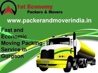 Fast and Economic Moving Packing Service in Gurgaon