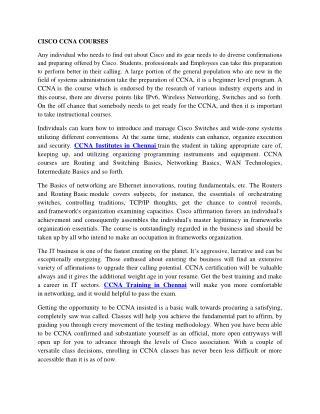Cisco-CCNA-courses