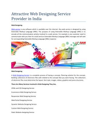 Attractive Web Designing Service Provider in India