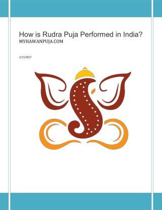 Rudra abhishek puja online - myhawanpuja