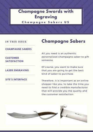 Champagne Sword Engraving - Champagne Sabers US