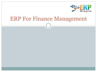 ERP for Finance Management