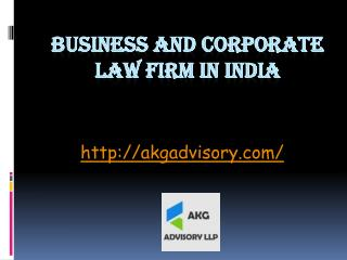 Business And Corporate Law Firm In India