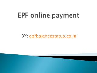EPF online payment