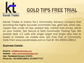 Accurate Commodity Mcx Tips
