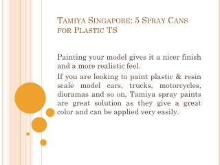 Tamiya Singapore: 5 Spray Cans for Plastic TS