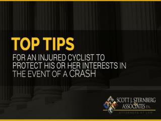 Top Tips For An Injured Bicycle Accident