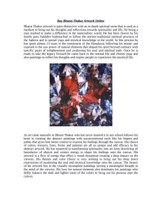 Buy Bharat Thakur Artwork Online