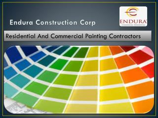 Endura INC commercial interior painting and stucco coating contactors La Puente California