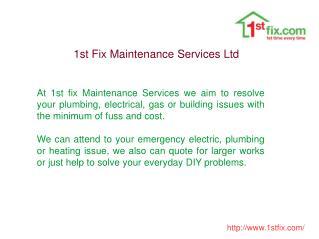 st Fix Maintenance Services Ltd