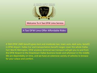 Town Car Service Coppell TX