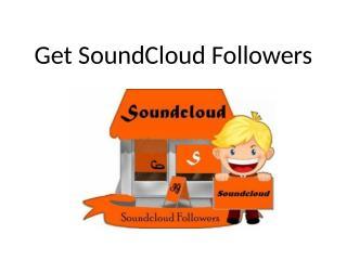 Get SoundCloud Followers