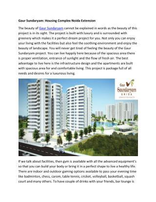 Gaur Saundaryam housing complex Greater Noida West