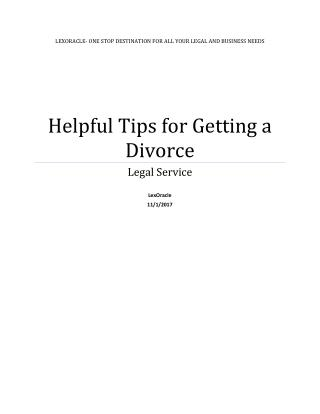 Essential and Helpful Tips for Getting a Divorce | LexOracle