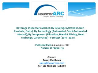 Beverage Dispensers Market Driven by Increasing Demand of Hotel Industry