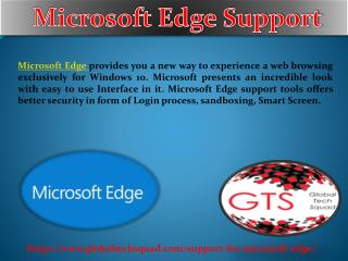 Support For Microsoft Edge Toll Free:1-800-294-5907