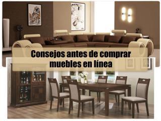Consejos antes de comprar muebles en línea