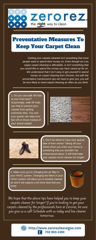 Preventative Measures To Keep Your Carpet Clean