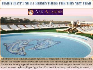 Enjoy Egypt Nile Cruises tours for this New Year