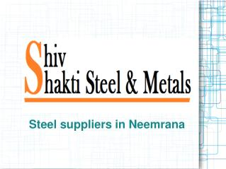 Best Steel suppliers in Neemrana