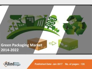 Green Packaging Market Expected Reach $207,543 Million, Globally by 2022