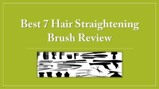 Hair Straightener Brush Review