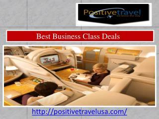 Offer Best Business Class Deals