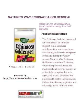 tasmanhealth.co.nz | Nature's Way Echinacea Goldenseal