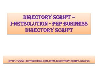 Directory Script – i-Netsolution - PHP Business Directory Script