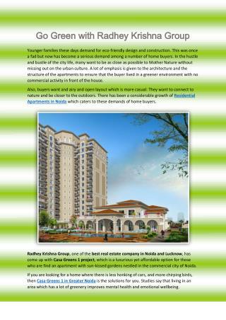 Go Green with Radhey Krishna Group