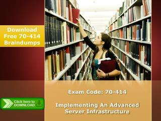 Microsoft 70-414 Real Exam PDF Files