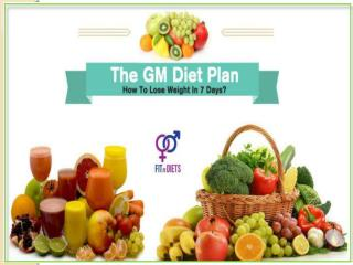 Fastest Indian Vegetarian GM Diet to Lose Weight – 7 Days Diet Plan