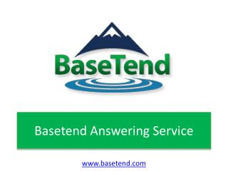 Importance of answering service - Basetend