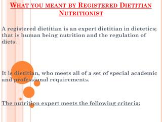Jobs Of A Registered Dietitian Nutritionist