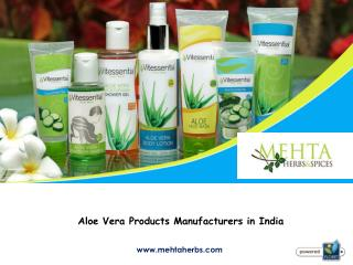 Aloe Vera Products Manufacturers