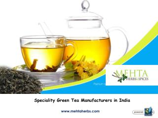 Organic Green Tea Leaves Manufacturers