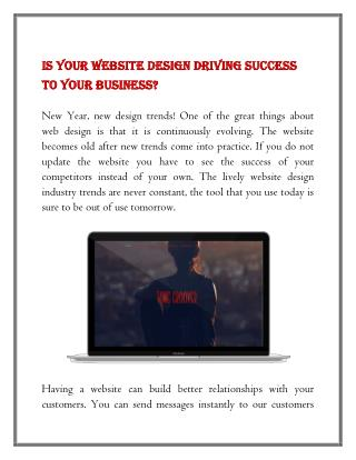 Is your website design driving success to your business?