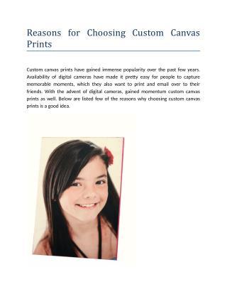 Reasons for Choosing Custom Canvas Prints